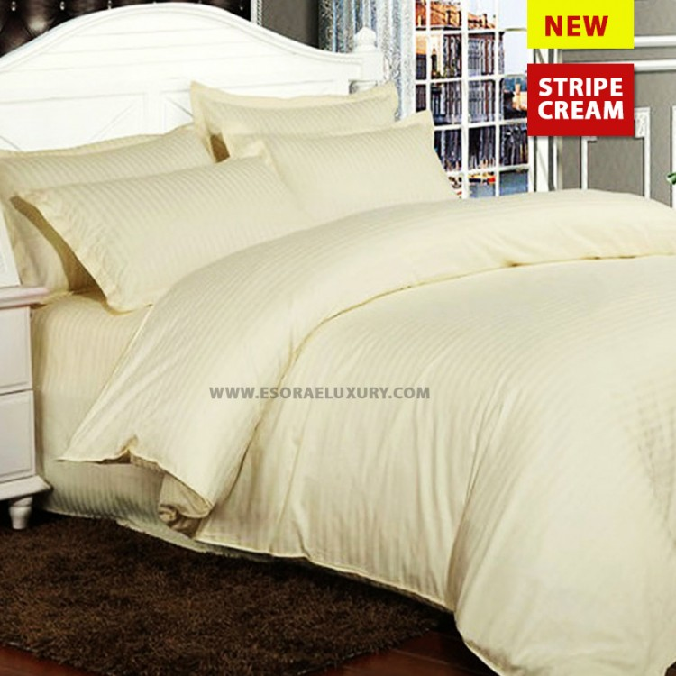 Stripe Cream Duvet Cover
