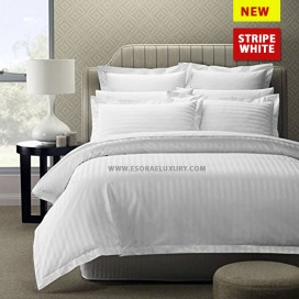 Stripe White Duvet Cover