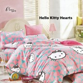 Hello Kitty Hearts Bedsheet