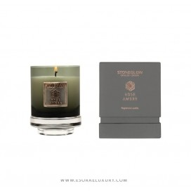 Mettalique Candle Rose Ambre