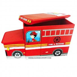 FIRE ENGINE LARGE KIDS BOYS GIRLS STORAGE TOY PLAY BOX