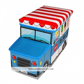 MULTIPURPOSE KIDS FOLDING ICE CREAM TOY STORAGE BOX