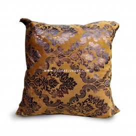 Brown Patterned II Throw Pillow