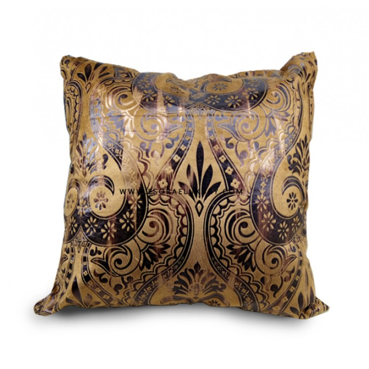 Brown Patterned Throw Pillow