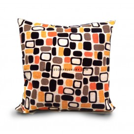 Coloured Boxed Patterned Throw Pillow