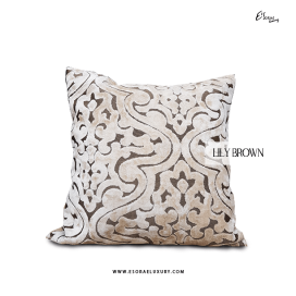Lily Brown Throw Pillow