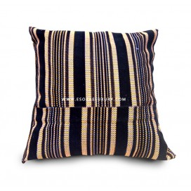 Lined Patterned Throw Pillow