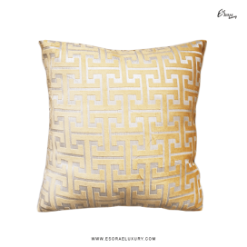 Maze Gold II (L) Throw Pillow