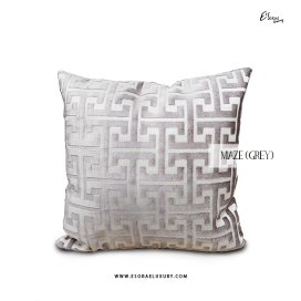 Maze Grey Throw Pillow