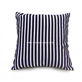 Silver Black Patterned Throw Pillow