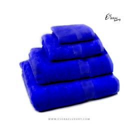 Blue Egyptian Cotton Towel Set