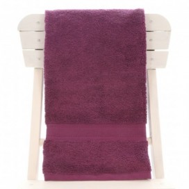 Single Egyptian Cotton Aubergine Bath Towel