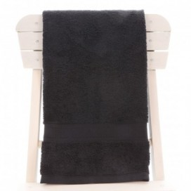Single Egyptian Cotton Black Bath Towel