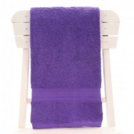 Single Egyptian Cotton Purple Bath Towel