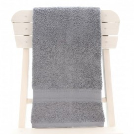 Single Egyptian Cotton Grey Bath Towel