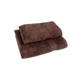 Set of 2 - Brown - Towel Set