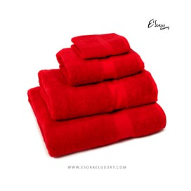 Red Egyptian Cotton Towel Set