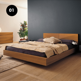 1 - Wooden Bed Frame