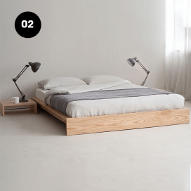 2 - Wooden Bed Frame