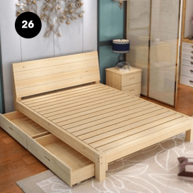 26 - Wooden Bed Frame