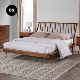 6 - Wooden Bed Frame