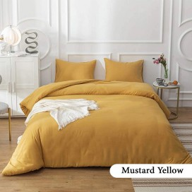 Mustard Yellow Complete Bed Set