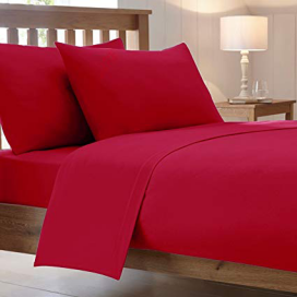 Plain Red Complete Bed Set