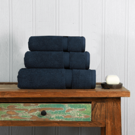 French Navy Luxury Boutique Towel Set