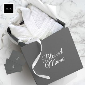 Blessed Mama Bathrobe Personalized Gift