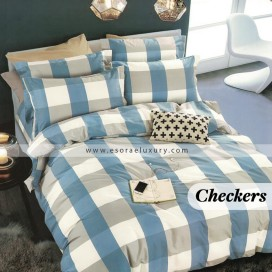 Checkers Duvet Cover and Quilt Comforter