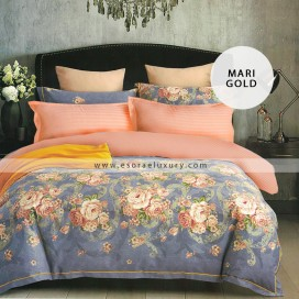 Mari Gold Duvet Cover and Quilt Comforter