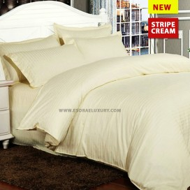 Stripe Cream Duvet Cover & Quilt Comforter