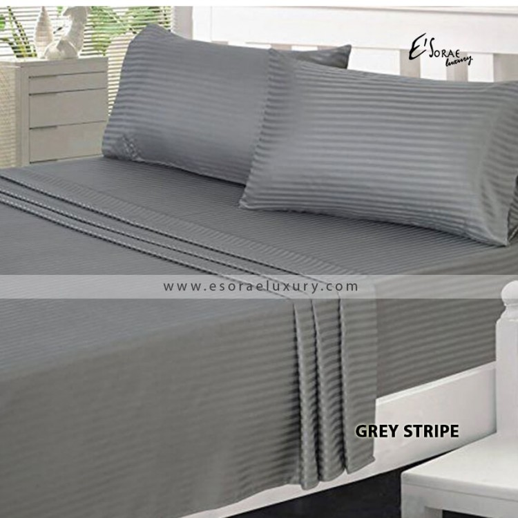 Stripe Grey Duvet Cover