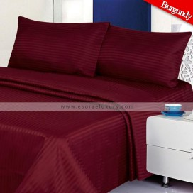 Stripe Burgundy Duvet Cover