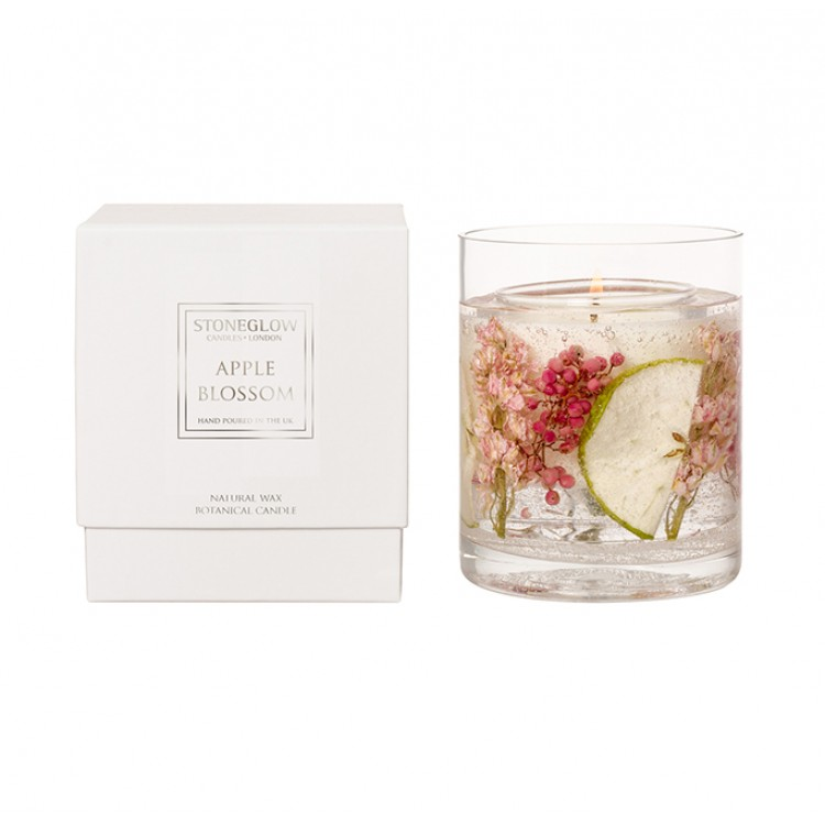 Candle - Apple Blossom Natural Wax Gel Candle | Nature's Gift
