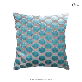 Polka Blue Throw Pillow