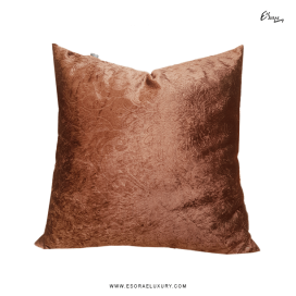 Tulip Brown (L) Throw Pillow