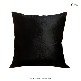 Shimmer Black (L) Throw Pillow