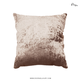 Shimmer Brown Throw Pillow