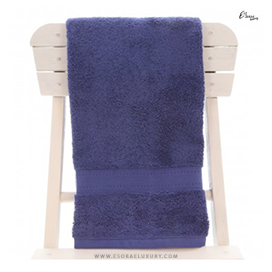 Single Egyptian Cotton Navy Blue Bath Towel
