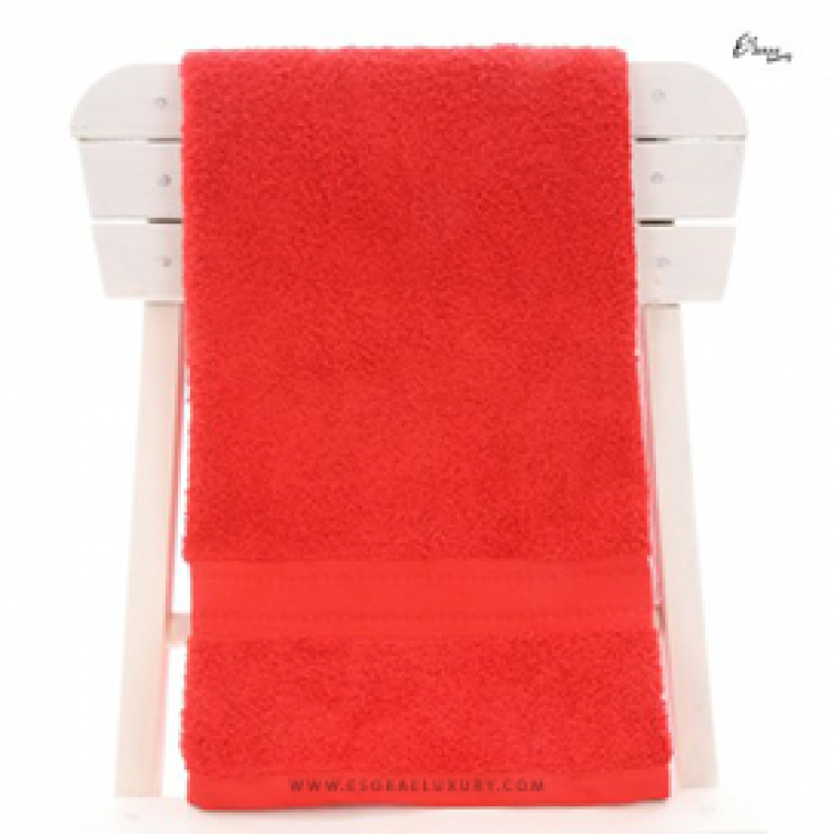 Single Egyptian Cotton Red Bath Towel