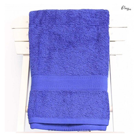 Single Egyptian Cotton Royal Blue Bath Towel